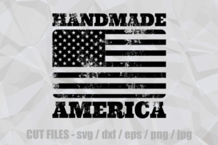 Print on Demand: Handmade America Rubber Stamp Cut File Graphic Crafts By Prawny 1