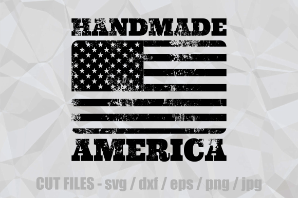 Download Free Handmade America Rubber Stamp Cut File Graphic By Prawny for Cricut Explore, Silhouette and other cutting machines.