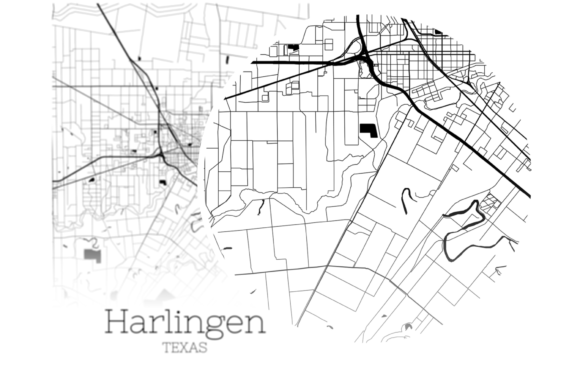 Download Free Harlingen Texas City Map Graphic By Svgexpress Creative Fabrica for Cricut Explore, Silhouette and other cutting machines.