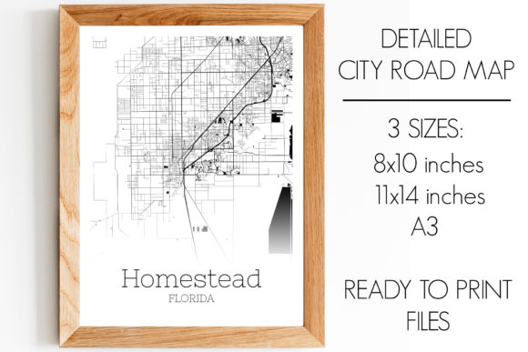 Print on Demand: Homestead Florida City Map Graphic Photos By SVGExpress