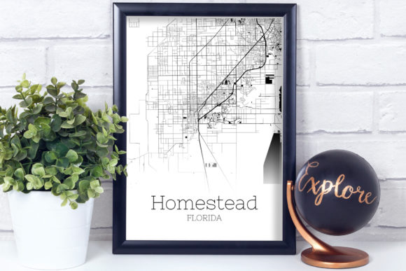 Download Free Homestead Florida City Map Graphic By Svgexpress Creative Fabrica for Cricut Explore, Silhouette and other cutting machines.