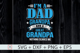 Print on Demand: I'm a Dad Grandpa and Great Grandpa   Graphic Print Templates By Novalia