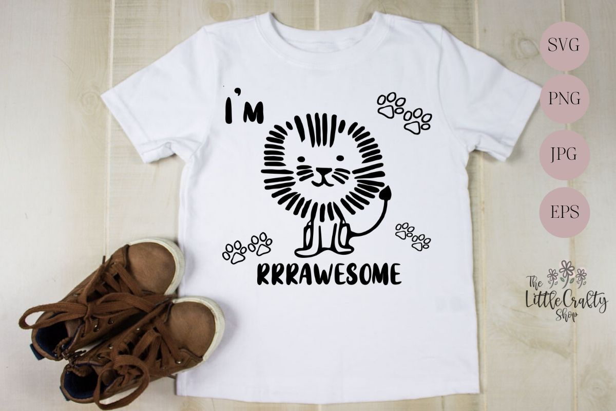 Download Free I M Rrrawesome Sublimation Design Graphic By The Little Crafty for Cricut Explore, Silhouette and other cutting machines.