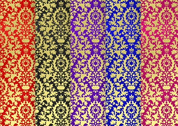 Download Free Jewel Damask And Soft Gold Digital Paper Graphic By Simply Paper for Cricut Explore, Silhouette and other cutting machines.