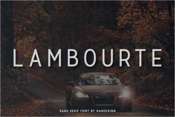 Print on Demand: Lambourte Sans Serif Font By Nan Design