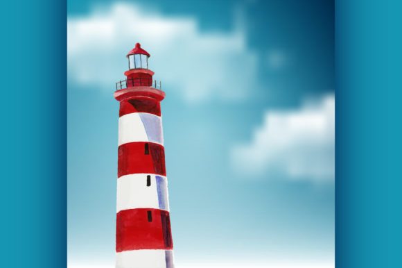 Lighthouse Graphic Illustrations By netkov1