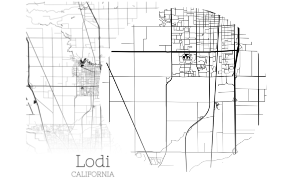 Print on Demand: Lodi California City Map Graphic Photos By SVGExpress - Image 2