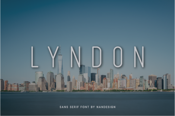 Print on Demand: Lyndon Sans Serif Font By Nan Design