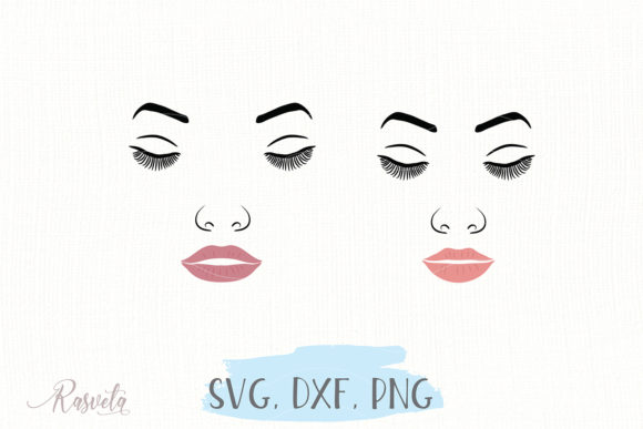Download Free Make Up Female Face Makeup 8 Graphic By Rasveta Creative Fabrica for Cricut Explore, Silhouette and other cutting machines.