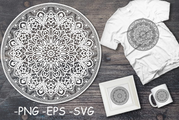 Download Free Mandala Art Or Round Ornament Decoration Graphic By Azrielmch for Cricut Explore, Silhouette and other cutting machines.