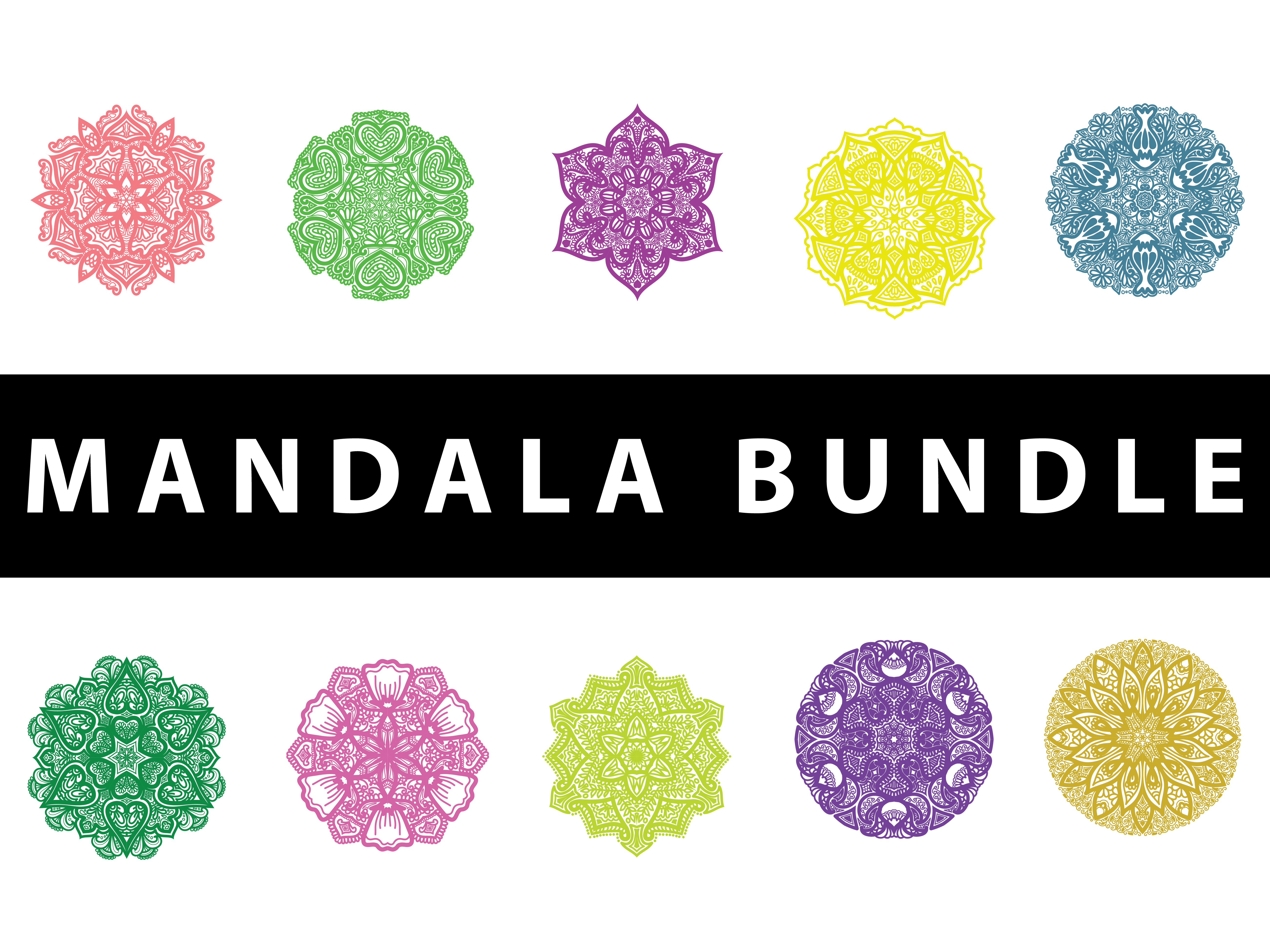Download Free Mandala Pack Art Graphic By Redsugardesign Creative Fabrica for Cricut Explore, Silhouette and other cutting machines.