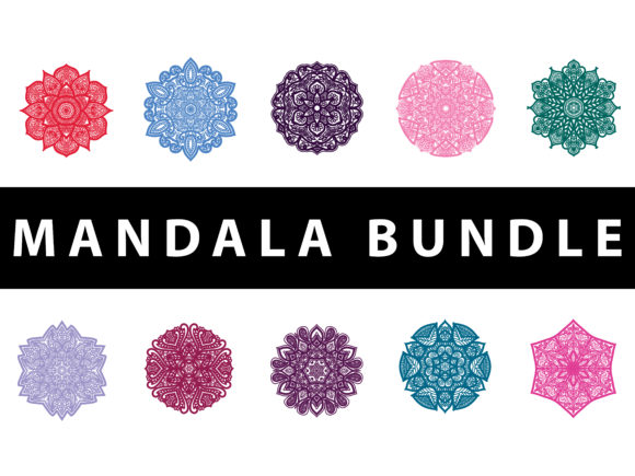 Download Free Mandala Pack Colorful Graphic By Redsugardesign Creative Fabrica for Cricut Explore, Silhouette and other cutting machines.