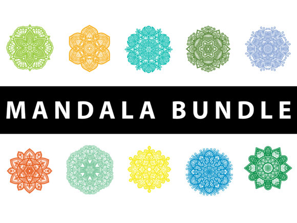 Download Free Mandala Pack Illustration Design Graphic By Redsugardesign Creative Fabrica for Cricut Explore, Silhouette and other cutting machines.
