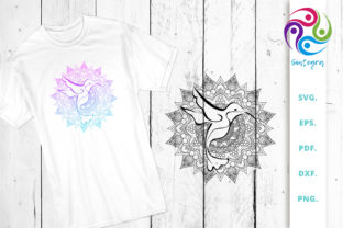 Download Free Mandala With Bird Cut File Graphic By Sintegra Creative Fabrica for Cricut Explore, Silhouette and other cutting machines.