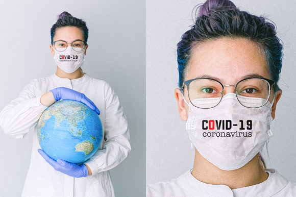 Medical Mask Mock-up Graphic Product Mockups By Vutura