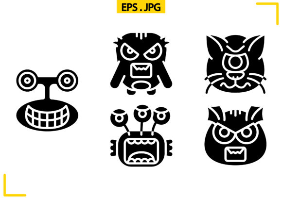 Download Free Monster Solid Graphic By Raraden655 Creative Fabrica for Cricut Explore, Silhouette and other cutting machines.
