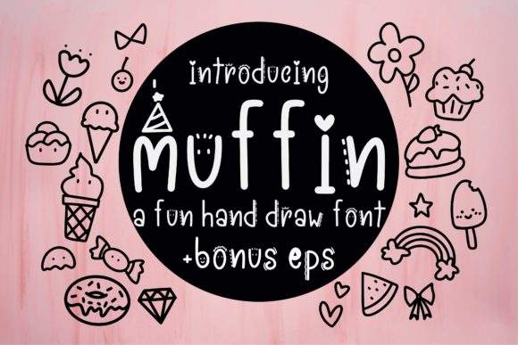 Print on Demand: Muffin Display Schriftarten von Mr.pagman