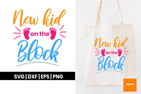 Download Free New Kid On The Block Graphic By Maumo Designs Creative Fabrica for Cricut Explore, Silhouette and other cutting machines.