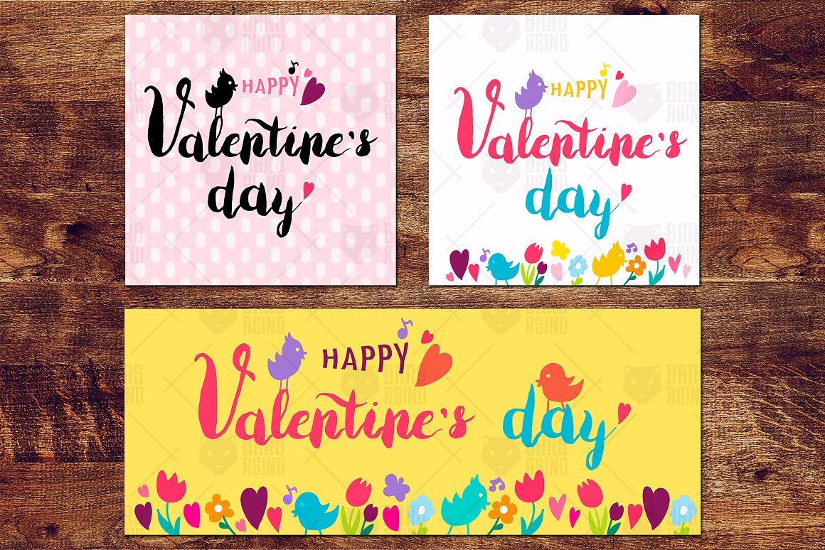 Nice Valentine With Birds Flowers Graphic By Barsrsind