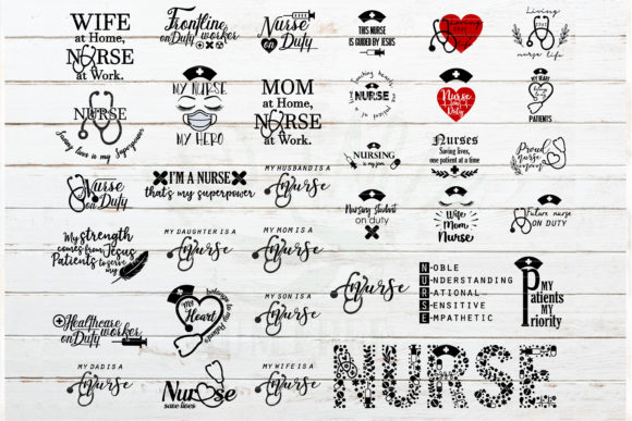 Download Free Nurse Quotes And Sayings Bundle Graphic By Redearth And Gumtrees for Cricut Explore, Silhouette and other cutting machines.