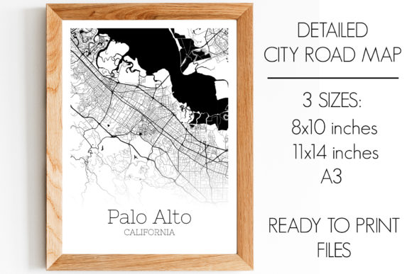 Print on Demand: Palo Alto California City Map Graphic Photos By SVGExpress