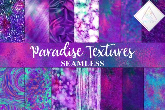 Print on Demand: Paradise Textures Digital Paper Graphic Textures By fantasycliparts