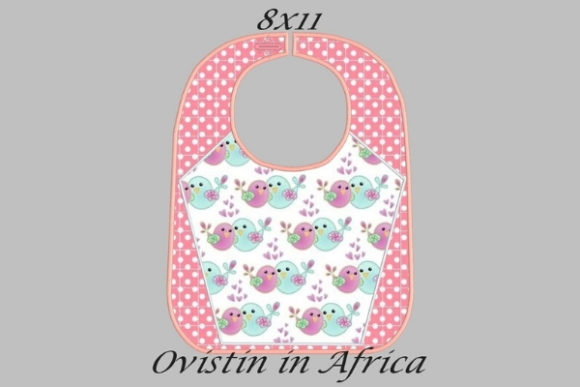 Pink Adorable Baby Bib Large Nursery Embroidery Design By Ovistin in Africa