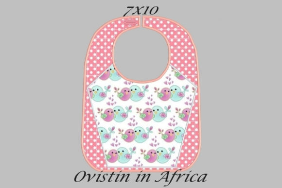 Pink Adorable Baby Bib Small Nursery Embroidery Design By Ovistin in Africa