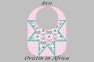 Pink Star Adorable Baby Bib Large Nursery Embroidery Design By Ovistin in Africa