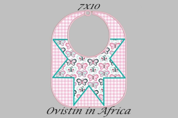 Pink Star Adorable Baby Bib Small Nursery Embroidery Design By Ovistin in Africa