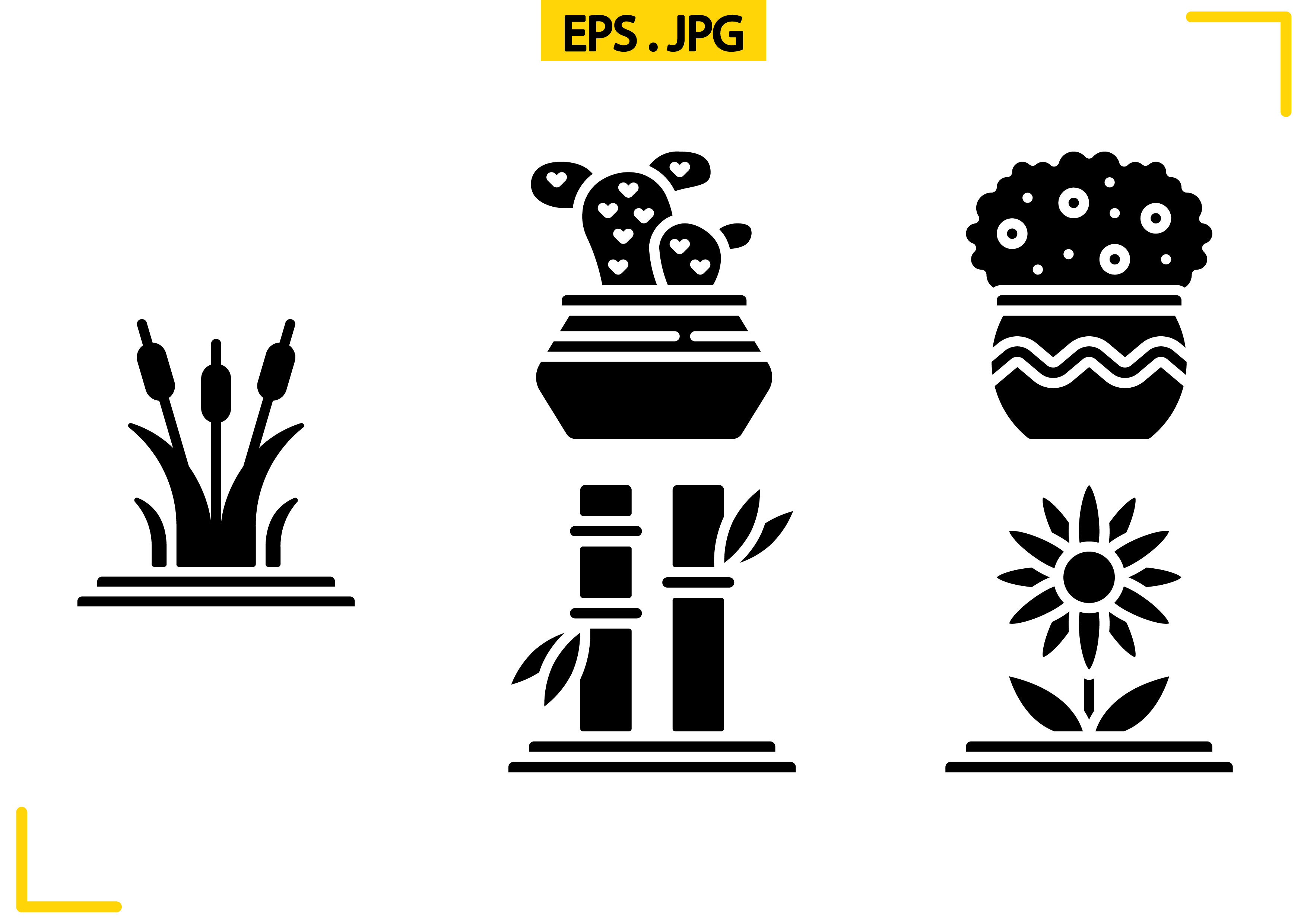 Download Free Plants Solid Graphic By Raraden655 Creative Fabrica for Cricut Explore, Silhouette and other cutting machines.