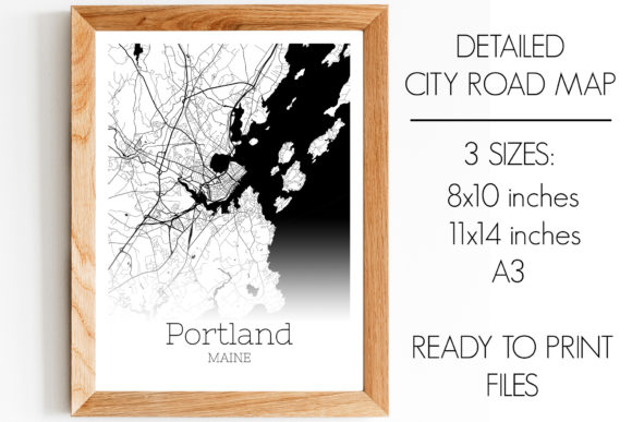 Download Free Portland Maine City Map Graphic By Svgexpress Creative Fabrica for Cricut Explore, Silhouette and other cutting machines.