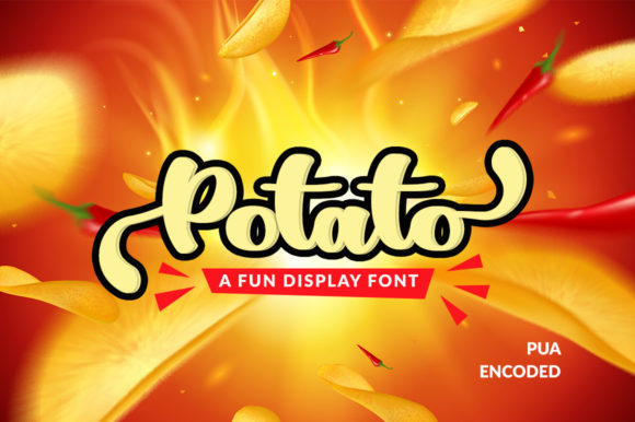 Print on Demand: Potato Display Font By markonahcreative