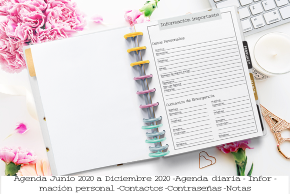 Download Free Printable Planner 7 Months Spanish Graphic By Printable Planners for Cricut Explore, Silhouette and other cutting machines.