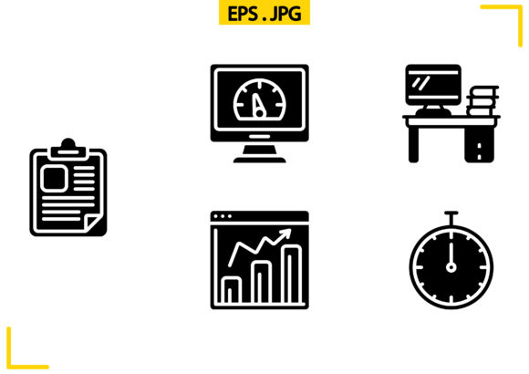 Project Management Solid Graphic Icons By raraden655
