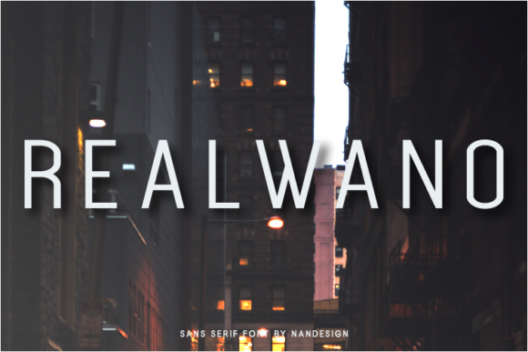 Print on Demand: Realwano Sans Serif Font By Nan Design