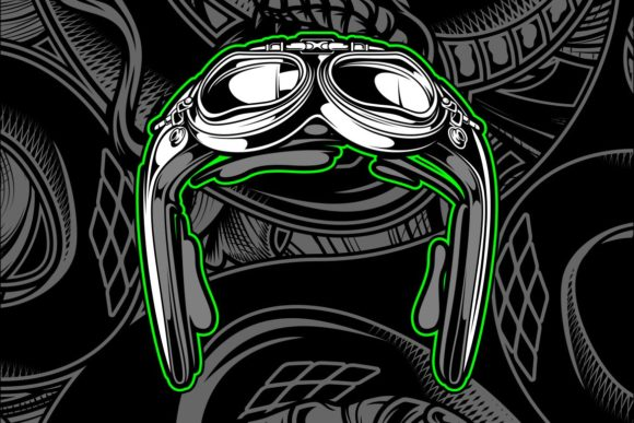 Download Free Retro Aviator Pilot Helmet Graphic By Epic Graphic Creative for Cricut Explore, Silhouette and other cutting machines.