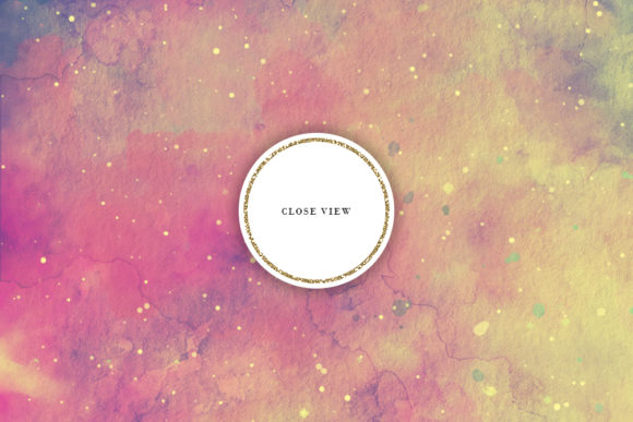 Print on Demand: Retro Space Watercolor Backgrounds Graphic Backgrounds By Sabina Leja - Image 4