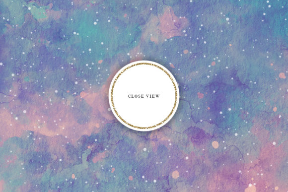 Print on Demand: Retro Space Watercolor Backgrounds Graphic Backgrounds By Sabina Leja - Image 5