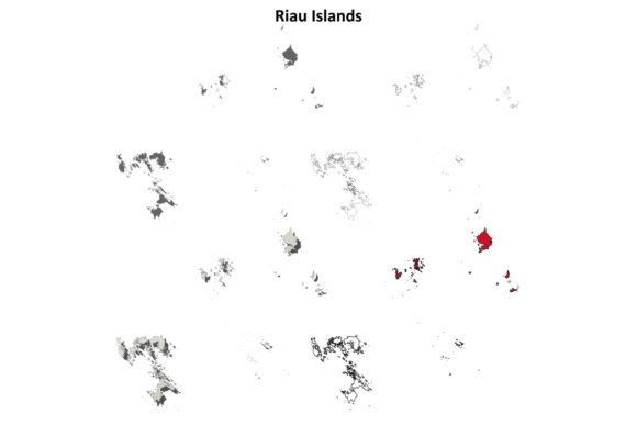 Download Free Riau Islands Outline Map Set Graphic By Davidzydd Creative Fabrica for Cricut Explore, Silhouette and other cutting machines.