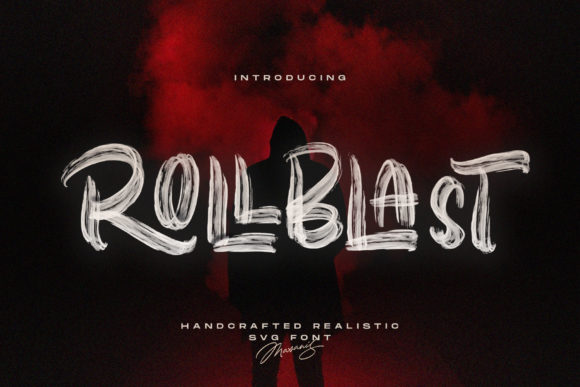 Download Free Rollblast Font By Mas Anis Creative Fabrica for Cricut Explore, Silhouette and other cutting machines.