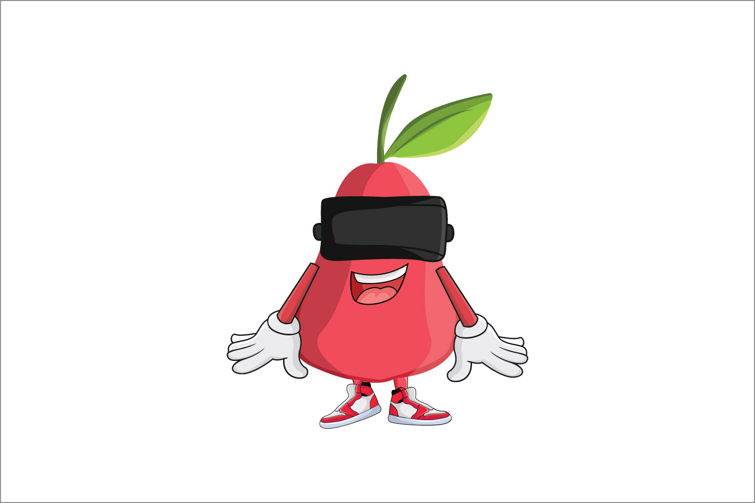 Download Free Rose Apple Fruit Vr Cartoon Character Graphic By Printablesplazza Creative Fabrica SVG Cut Files