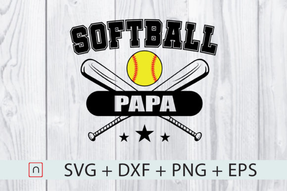 Download Free Softball Papa Baseball Sport Gift Graphic By Novalia Creative for Cricut Explore, Silhouette and other cutting machines.