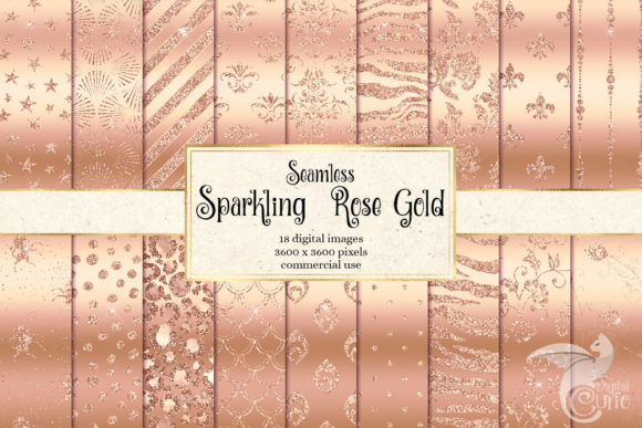 Download Free Sparkling Rose Gold Digital Paper Graphic By Digital Curio SVG Cut Files