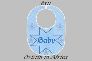 Star Flowers Adorable Baby Bib Large Nursery Embroidery Design By Ovistin in Africa