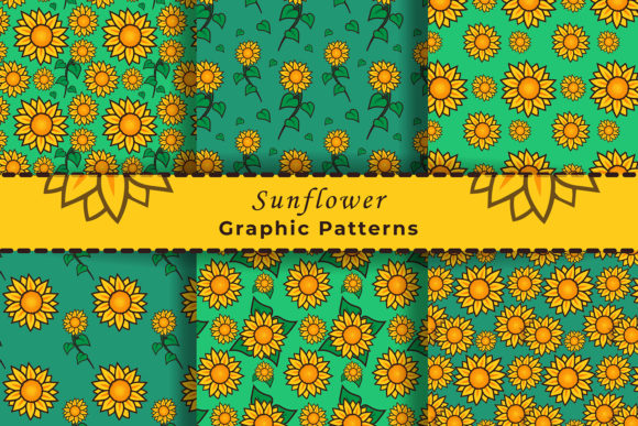 Download Free Sunflower Seamless Patterns Graphic By Damasyp Creative Fabrica for Cricut Explore, Silhouette and other cutting machines.