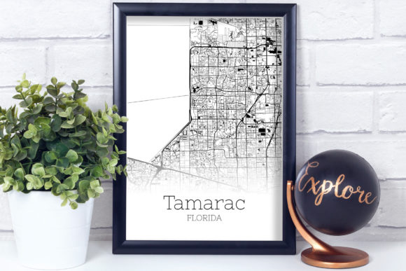 Download Free Tamarac Florida City Map Graphic By Svgexpress Creative Fabrica for Cricut Explore, Silhouette and other cutting machines.