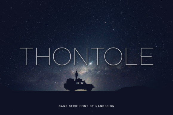 Download Free Thontole Font By Nan Design Creative Fabrica for Cricut Explore, Silhouette and other cutting machines.