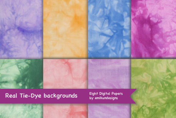 Tie-dye Patterns Graphic Textures By emikundesigns