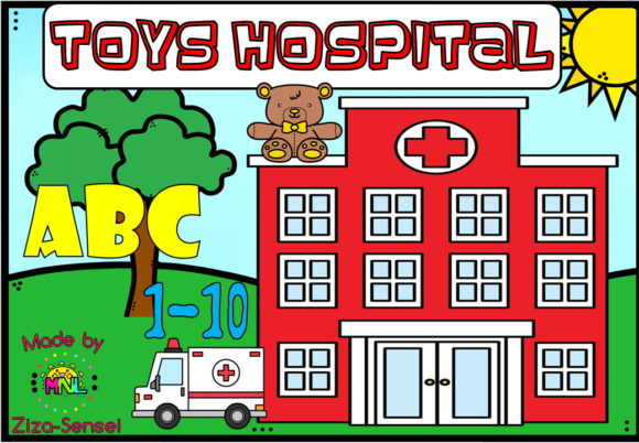 Toys Hopistal Band-aid ABC & Numbers Graphic Teaching Materials By Ziza Mariposa
